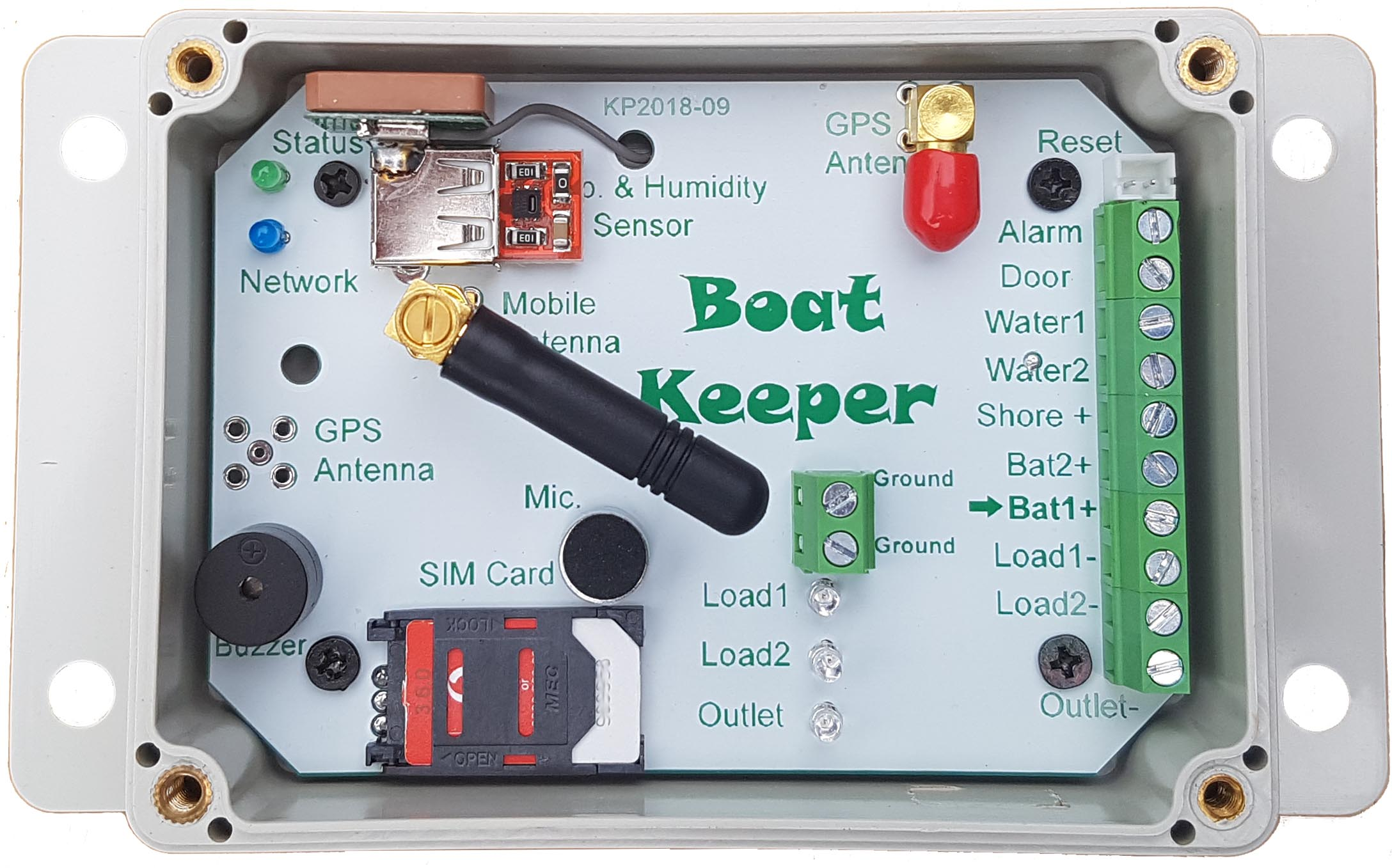boat keeper gps 3g security controll alarm system